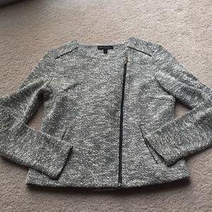 Banana Republic moto-style sweater w/faux leather